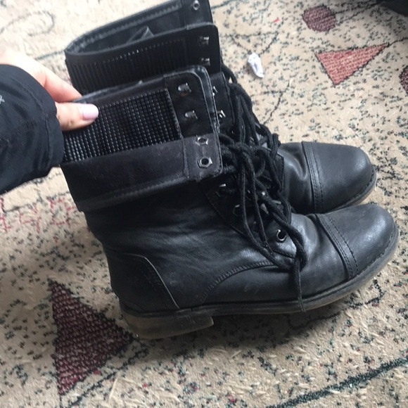 Nordstrom Shoes | Black Combat Boots